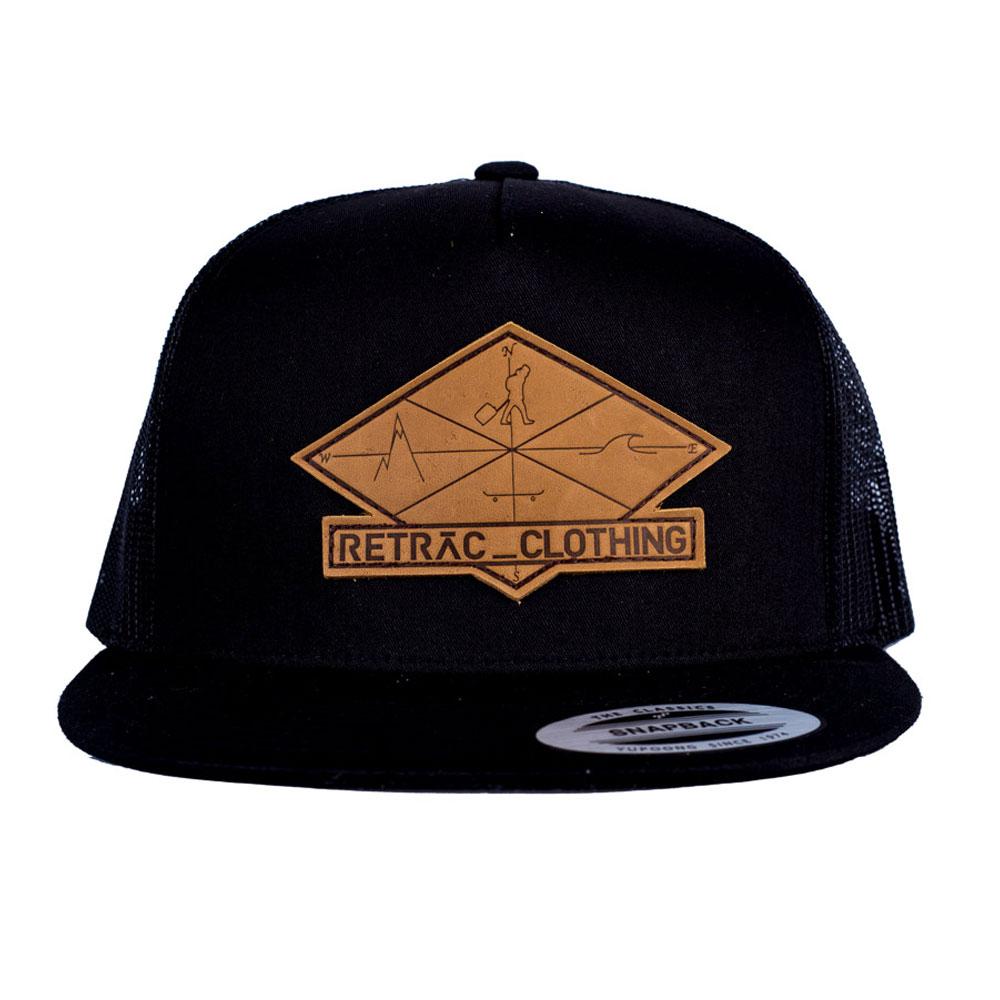 fda46ad8 6-PANEL MESH SNAPBACK HAT – BLACK – Retrac Clothing
